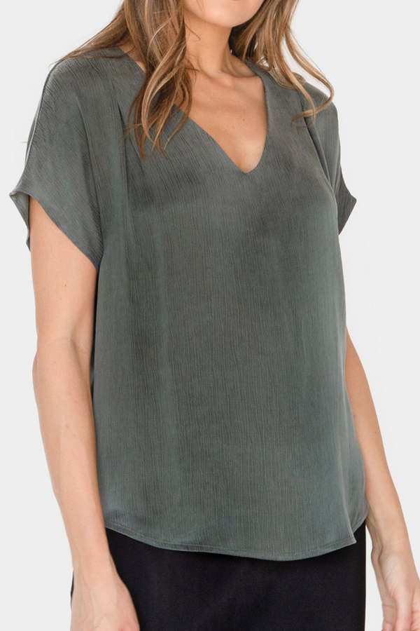 VENICE V-NECK BLOUSE - LOST APRIL