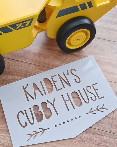 Acrylic Cubby House Sign