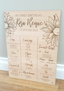 Daisy Birthday Board