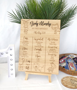 Safari Themed Birthday Board