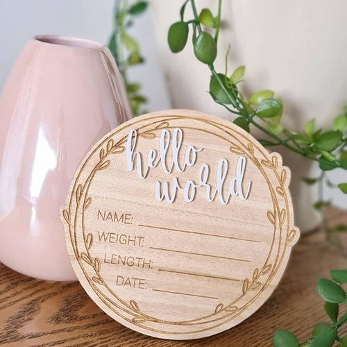 Hello World Announcement Plaque