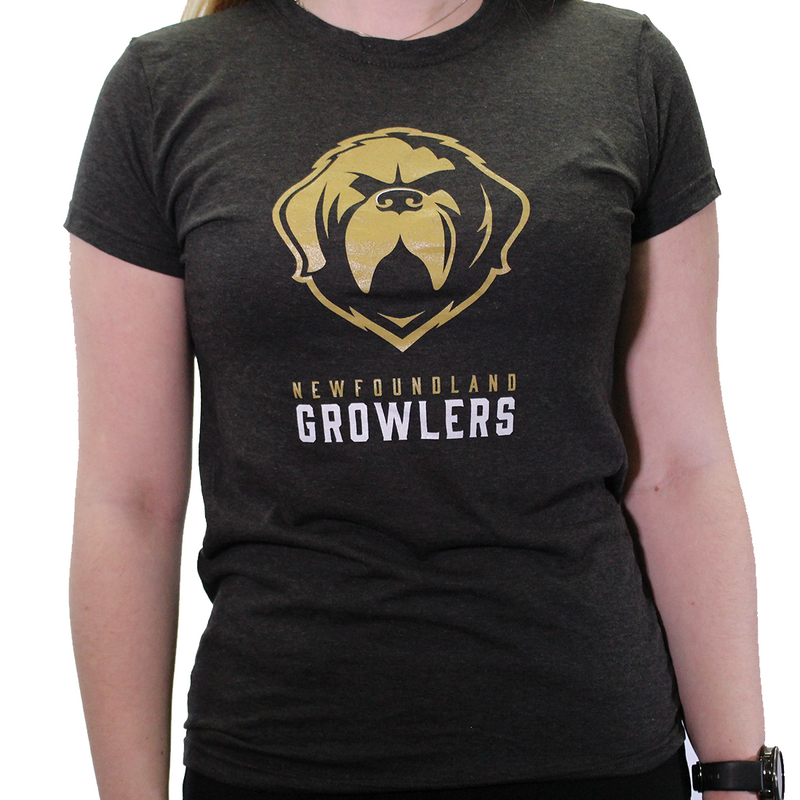Growlers Ladies Tee Heather Black