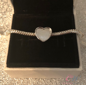 Silver Plated Heart Charm for Charm Bracelet- Make your own photo charm!