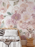 Light and Airy Wildflower Mural