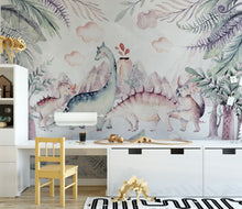 Load image into Gallery viewer, Cute Dinosaur Mural
