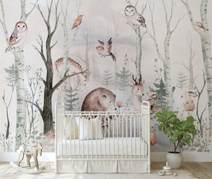 Sweet Dreamy Forest Mural