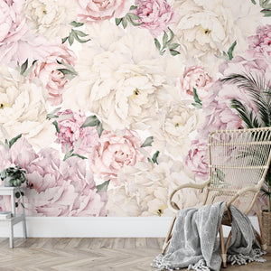 Gorgeous Peony Mural