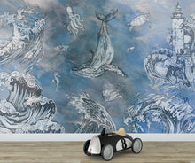 Load image into Gallery viewer, Storm in the Sea Mural