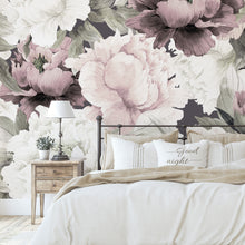Load image into Gallery viewer, Peonies in Dusty Rose Mural