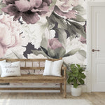 Peonies in Dusty Rose Mural