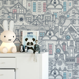 Old City Art Wallpaper Removable Self Adhesive Wallpaper Peel and Stick Wallpaper K009
