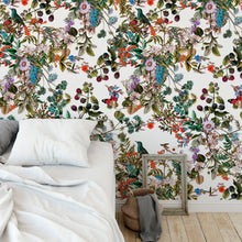 Load image into Gallery viewer, Vintage Botanical Wildflowers Floral Peel and Stick Removable Self Adhesive Wallpaper A028