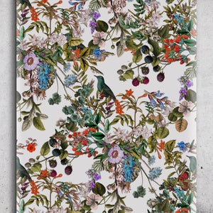Vintage Botanical Wildflowers Floral Peel and Stick Removable Self Adhesive Wallpaper A028