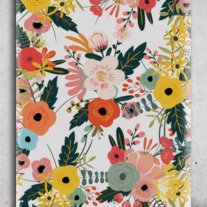 Wallpaper Cute Spring Wildflowers - Removable Wallpaper - Children Nursery Baby Girl Kids - Self Adhesive Wallpaper - Peel and Stick K025