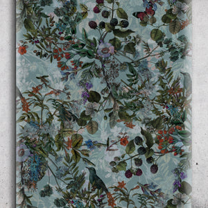 Wallpaper Vintage Blue Botanical Wildflowers Floral Removable Self Adhesive Peel and Stick Wallpaper A051