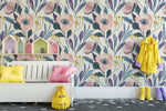 Self Adhesive Removable Wallpaper Big Spring Garden Flowers Peel and Stick Wallpaper K063