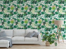 Load image into Gallery viewer, Tropical Leaves Summer Bohemian Jungle Mural Removable Self Adhesive Peel and Stick Wallpaper A006