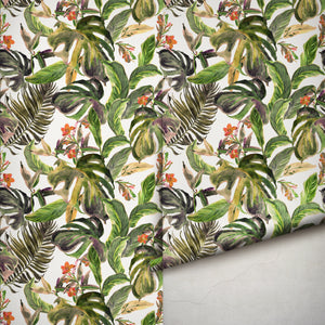The Tropical Jungle Wallpaper Removable Self Adhesive Wallpaper, Peel and Stick Wallpaper A082