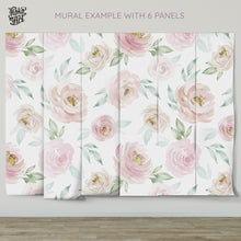 Load image into Gallery viewer, Watercolor Rose Mural