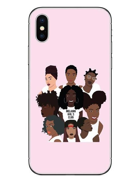 Melanin Girls Club Iphone Case Coffee / For X 10 Case