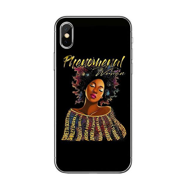 Phenomenal Woman Iphone Case Tpu D1183 / For 7 Plus Case