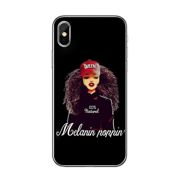 Melanin Poppin V Iphone Case Tpu D1200 / For 7 Plus Case