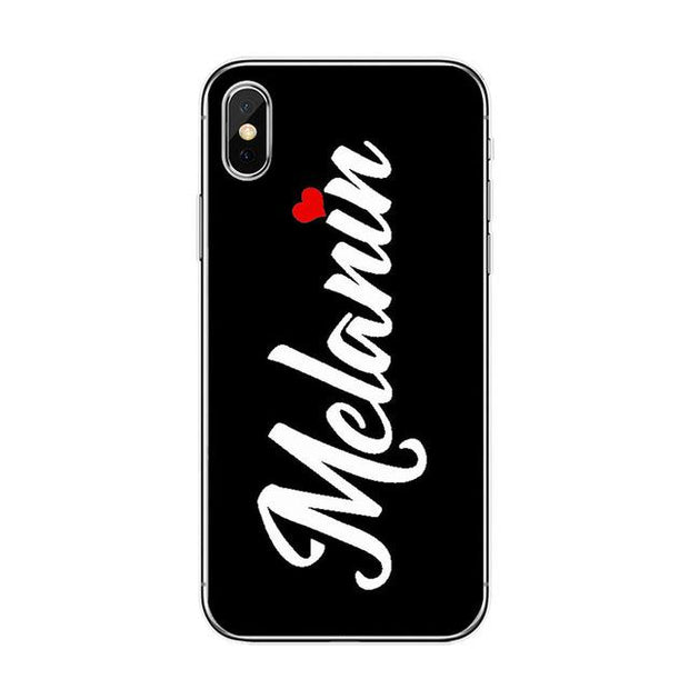Melanin Heart Iphone Case Tpu D1219 / For 7 Plus Case