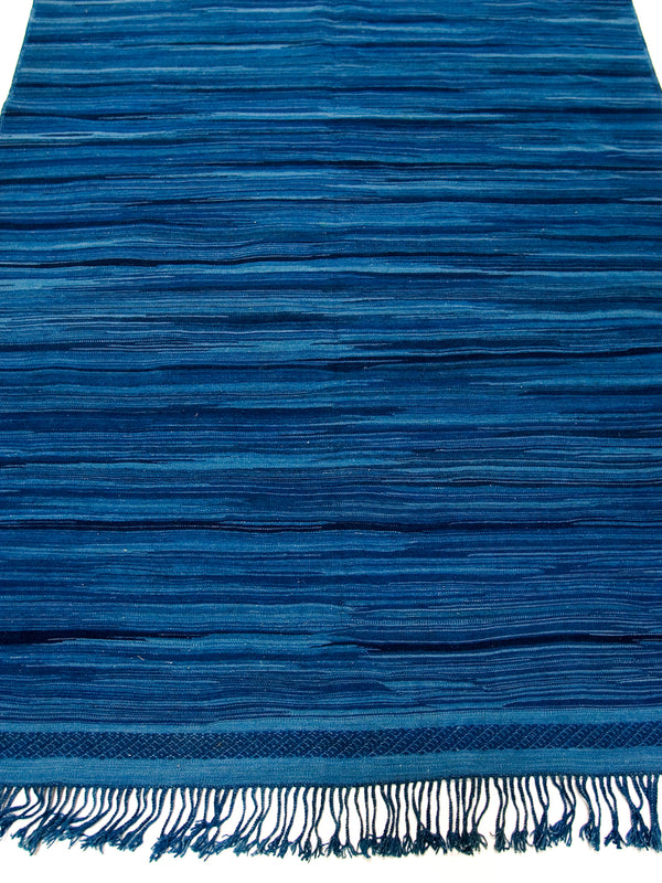 Ocean Wind - Contemporary collection indigo-dyed flat weave