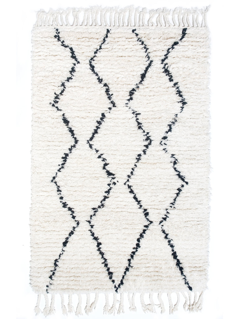 Berber Bath Rug - Diamond Lines
