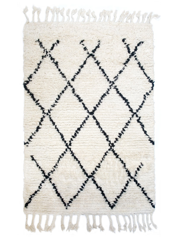 Berber Bath Rug - Diamonds (medium)