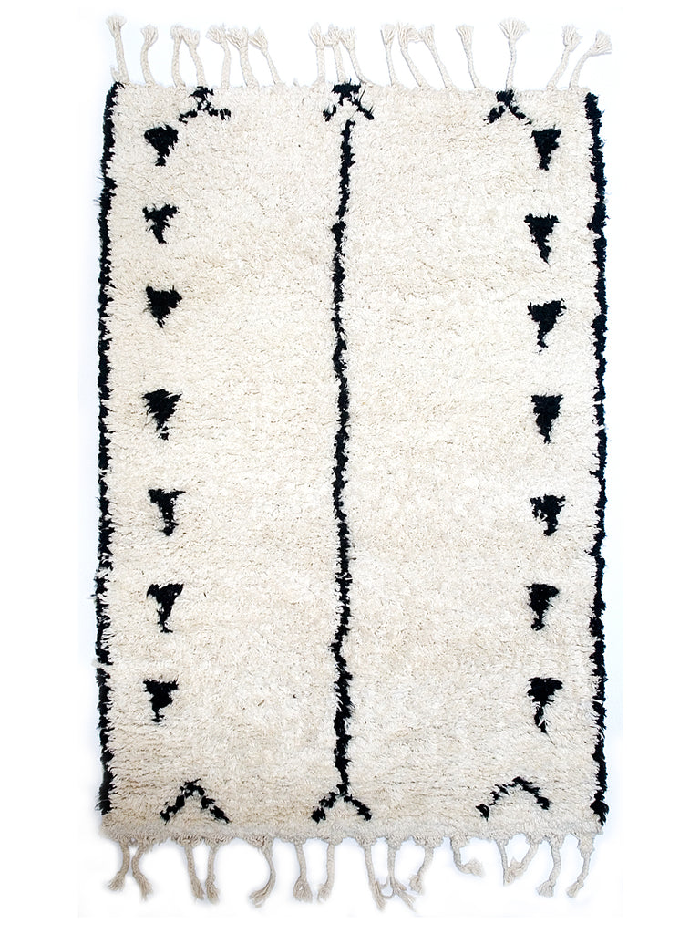 Berber Bath Rug - Triangle Lines