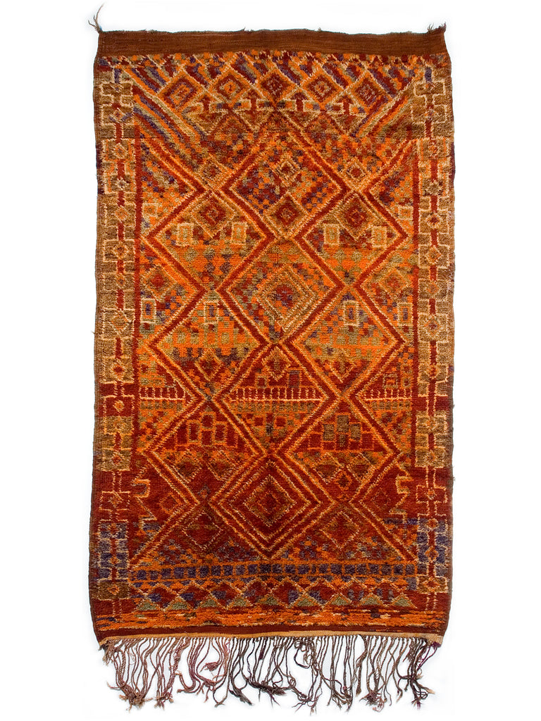 Moulouya Valley Maalema- Very Rare Beni Bou Yahi female rug