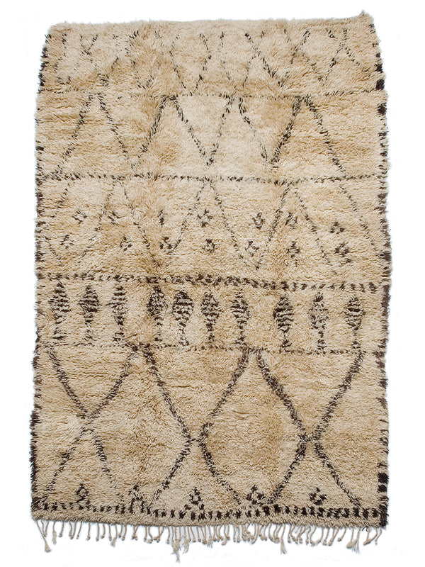 Cold Mountains - Excellent archaic design Beni Ouarain Tahlast (sleeping rug)