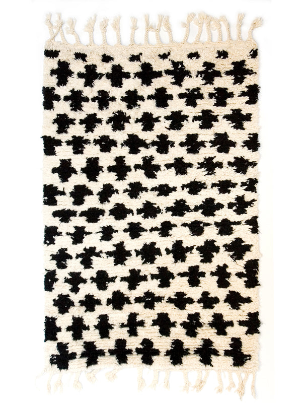 Berber Bath Rug - Cross