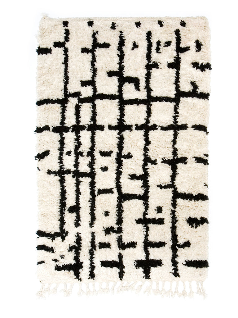 Berber Bath Rug - Abstract (medium)