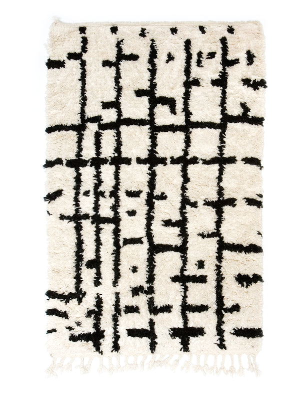 Berber Bath Rug - Abstract