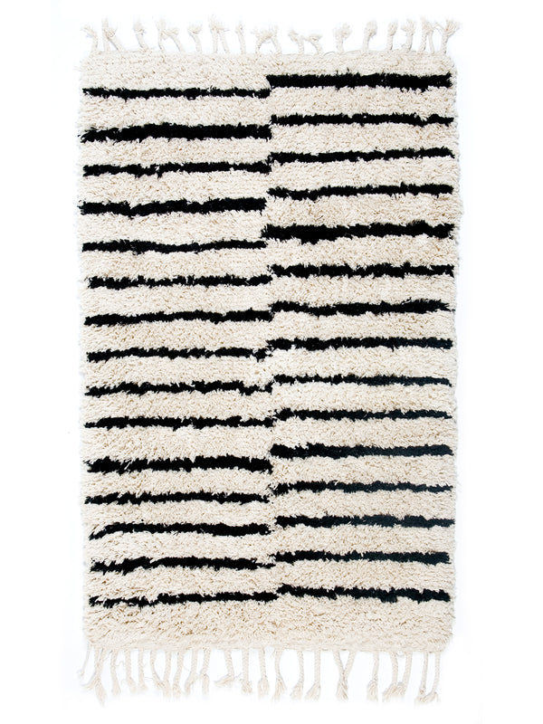 Berber Bath Rug - Stripes