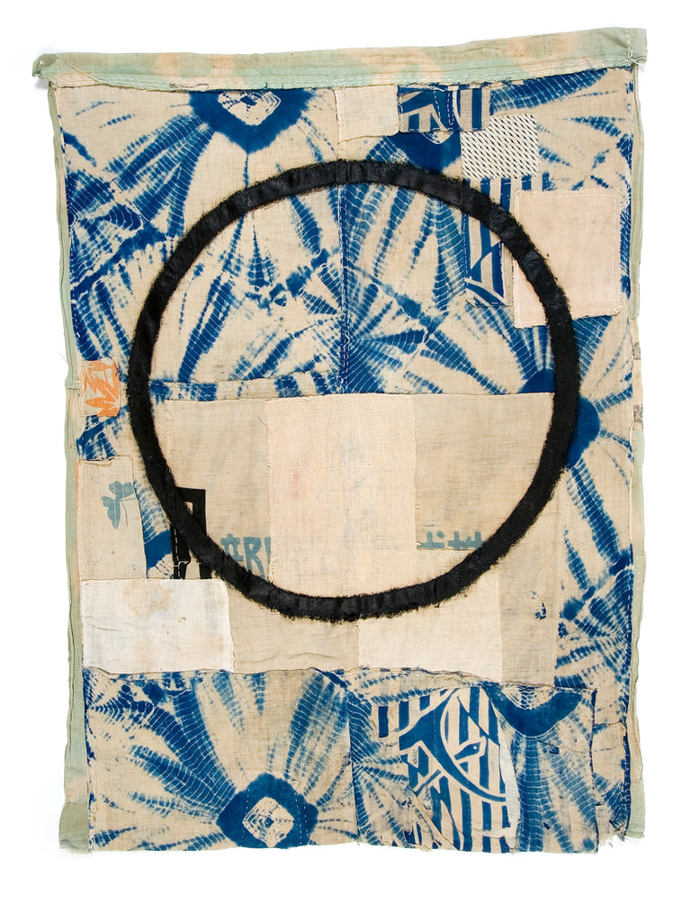 A Brief Reflection of Time #1 - Alexander Jowett artwork on Boro cloth