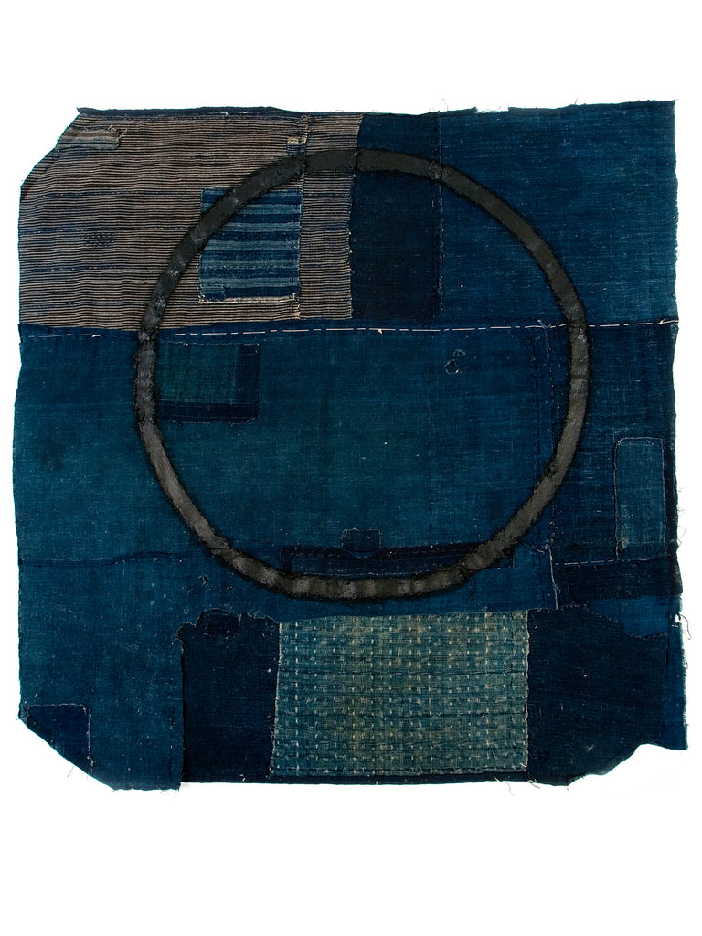 A Brief Reflection of Time #2 - Alexander Jowett artwork on Boro cloth