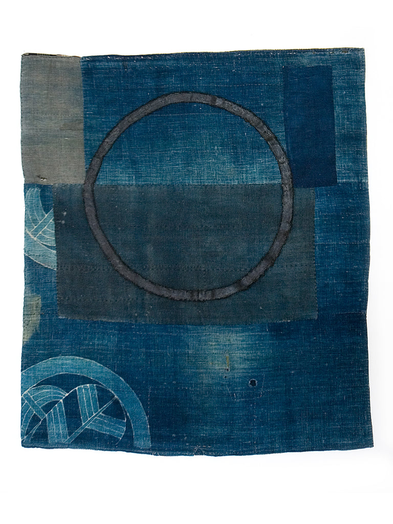 A Brief Reflection of Time #3 - Alexander Jowett artwork on Boro cloth
