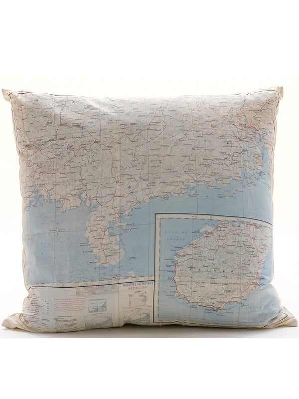Vintage Map Cushion - Canton