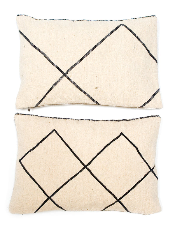 Vintage Moroccan Wool Cushions - Diamond pattern