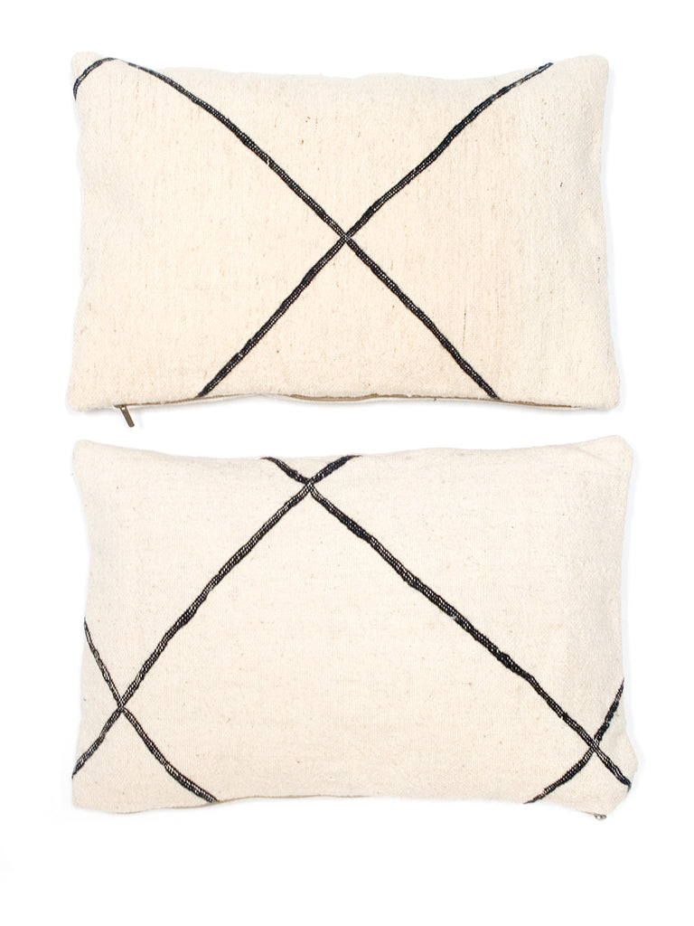 Vintage Moroccan Wool Cushions - Diamonds pattern