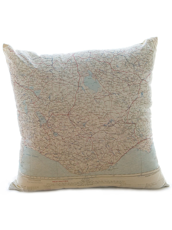 Vintage Map Cushion - Sinop