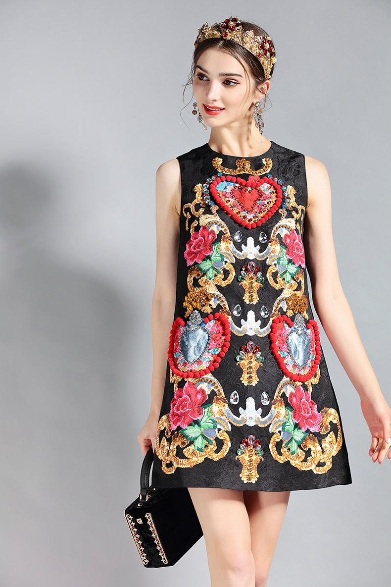 Baroque Heart, Dress, Paradise drive, Street Paradise online shop - free worldwide shipping
