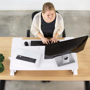 "VIVO 36"" Height Adjustable Standing Desk Monitor Riser Tabletop Sit to Stand - AlzaDesk"