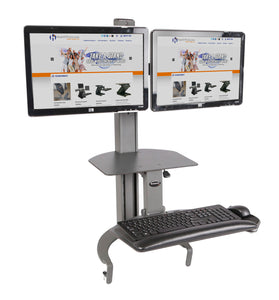 HealthPostures 6350 TaskMate Go Dual Monitor Standing Desk - AlzaDesk