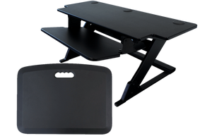 "iMovR ZipLift+ 42"" HD Standing Desk Converter with Mat, Black - AlzaDesk"