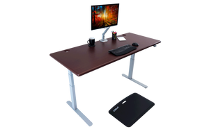 iMovR Lander Standing Desk - Wood Grain Top - AlzaDesk