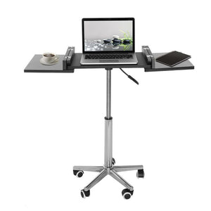 Techni Mobili Folding Table Laptop Cart, Graphite - AlzaDesk